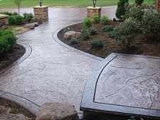 Stamped Concrete Job in Bakersfield 93308